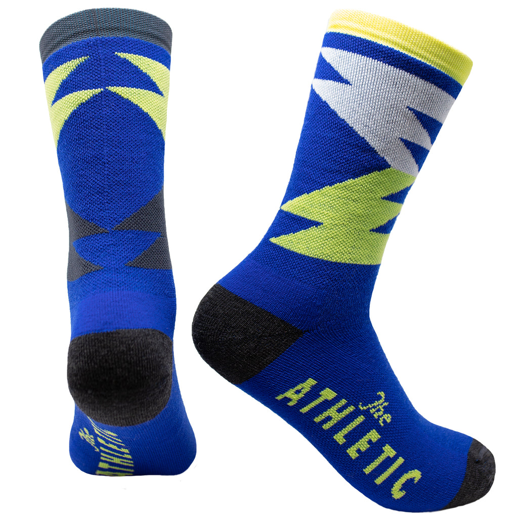 Quilt Wool Sock - Royal