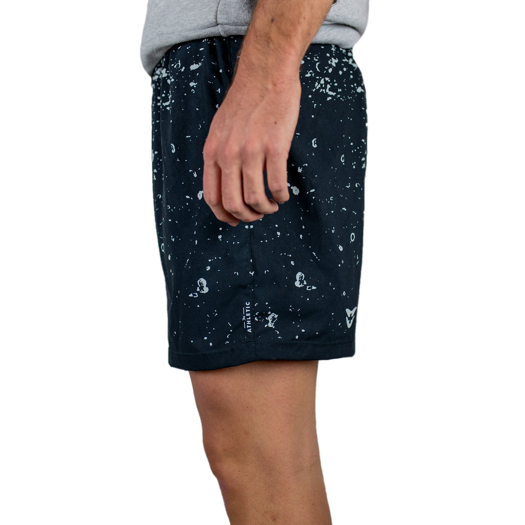 Splash & Splatter Black Running Shorts
