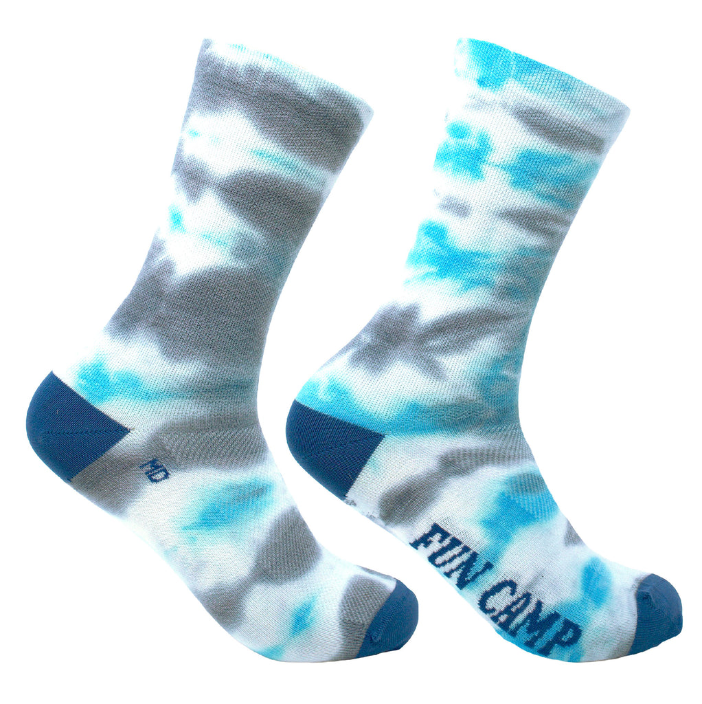 Tie & Dye - Grey Blue Wool Socks