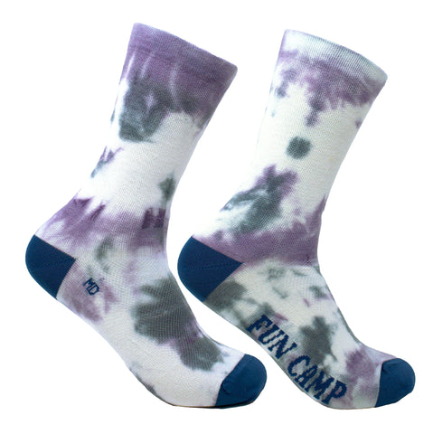 Tie & Dye - Purple Grey Wool Socks