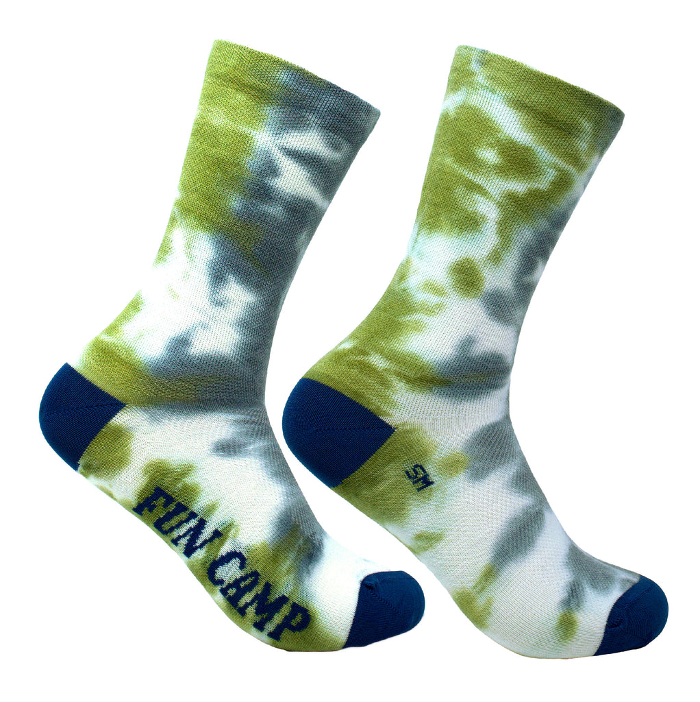 Tie & Dye - Blue Green Wool Socks