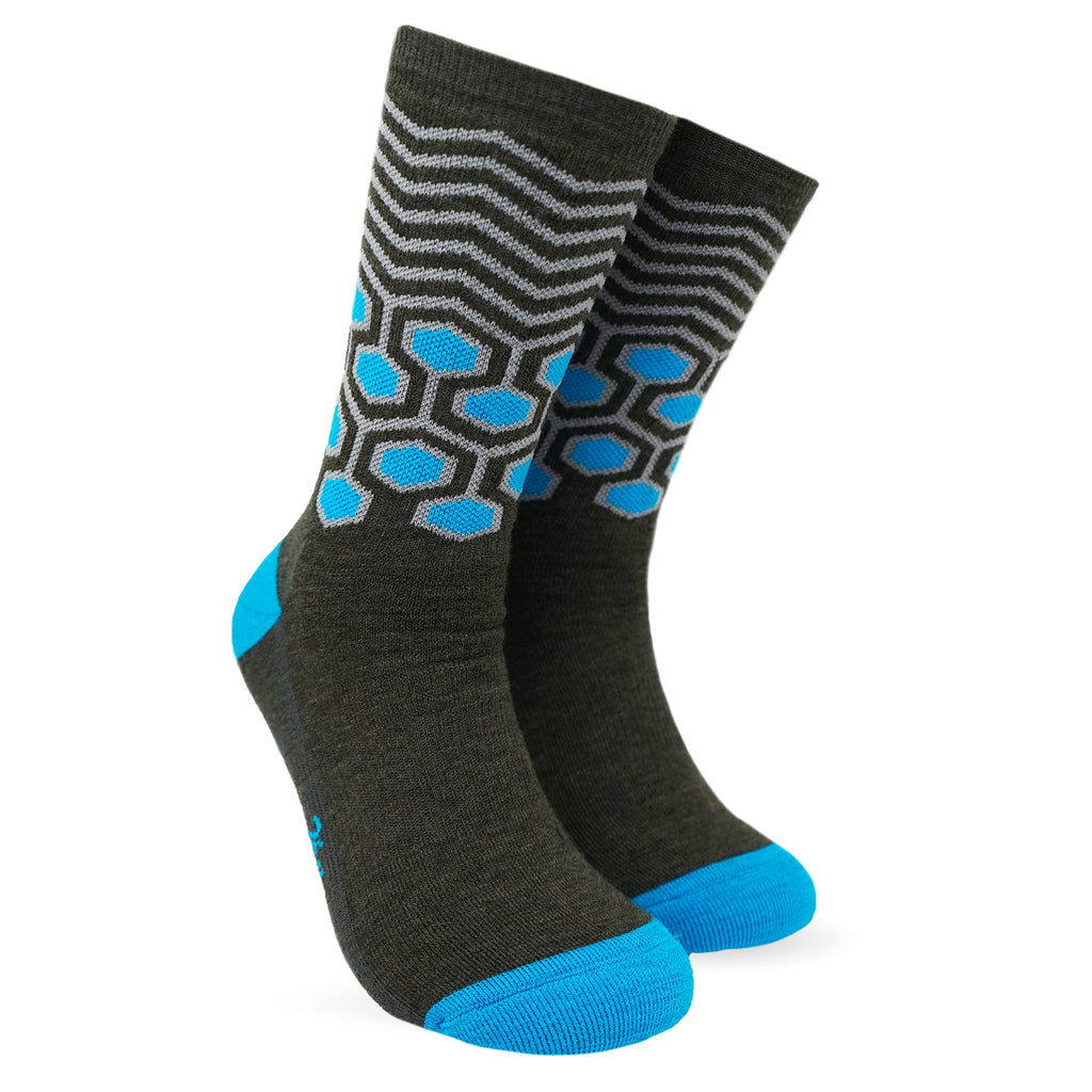 Twin Wool Socks - Super Blue