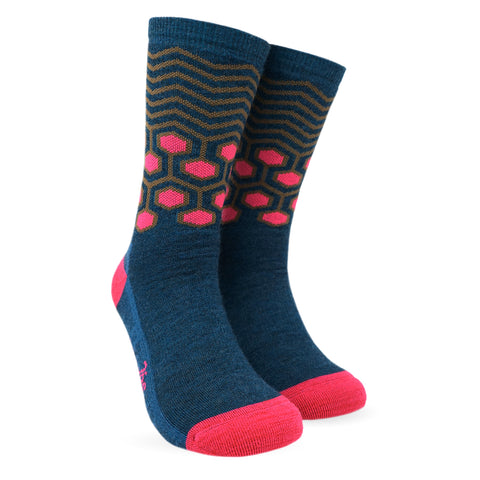 Twin Wool Socks - Dark Rhodamine