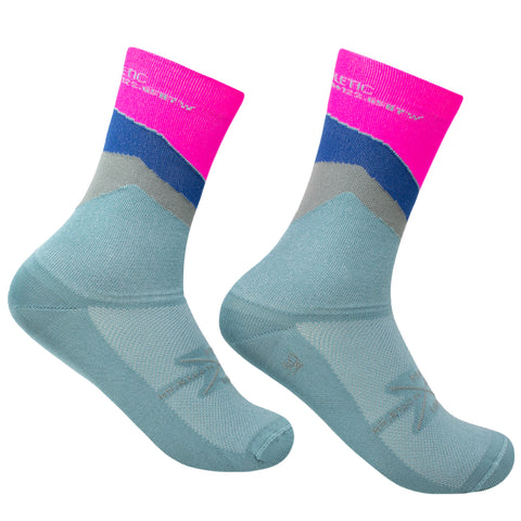 The Ups & Downs Socks - Mineral Blue