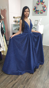 Traje formal azul marino
