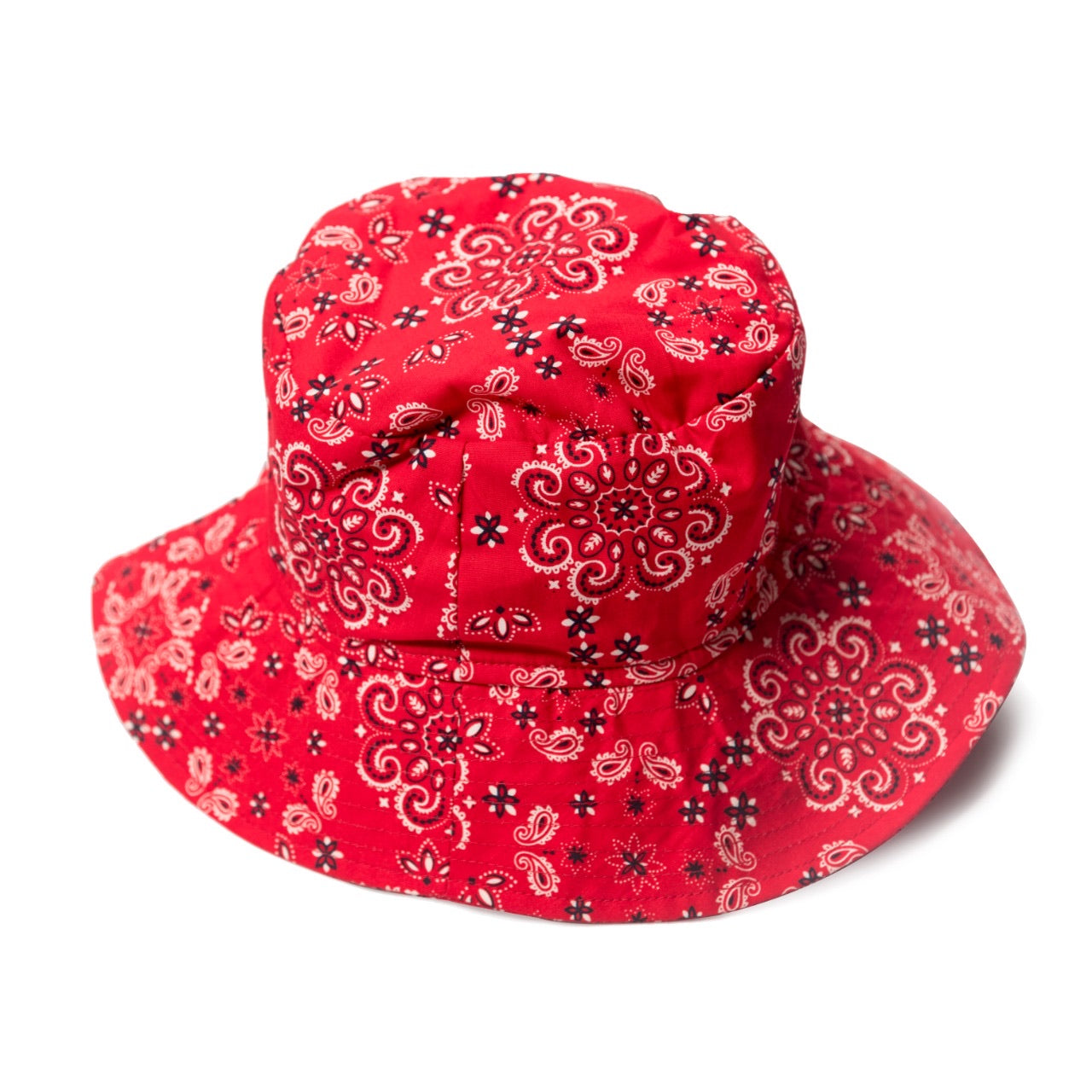 Red Paisley Bucket Hat