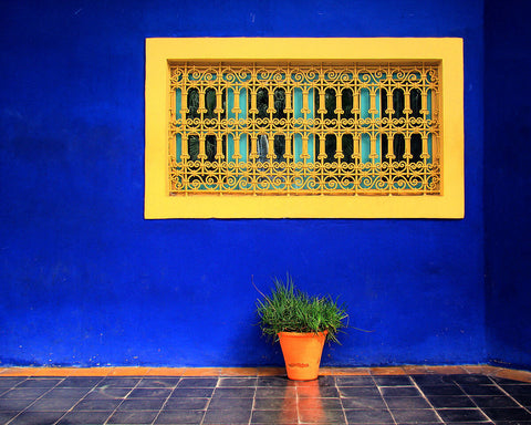 Garden Majorelle yellow window