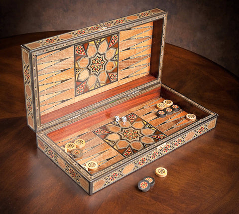 shokunin syrian artisan crafts handmade marquetry backgammon wooden box