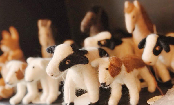 Felted Wool Animals Collection - artisans - handmade - Shokunin