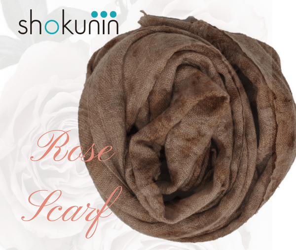 Flower Dyed Cashmere Scarves