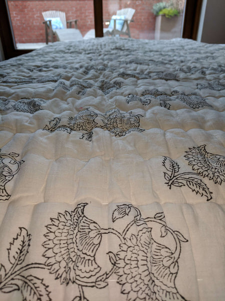 Hand Printed Cotton Quilt