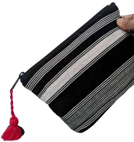 Black & White Cosmetic Clutch