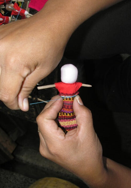 Worry Doll Journal with bookmark - artisans - handmade - Shokunin