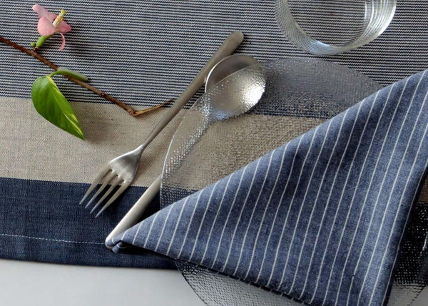 Indique Surf Cotton Hand-Woven Napkin - Set of 4 - artisans - handmade - Shokunin