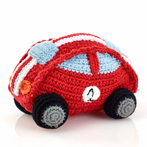 Red Racing Car Rattle - artisans - handmade - Shokunin