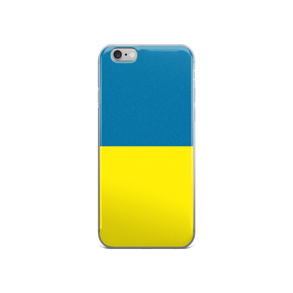 Minimal Ukrainian Flag - iPhone