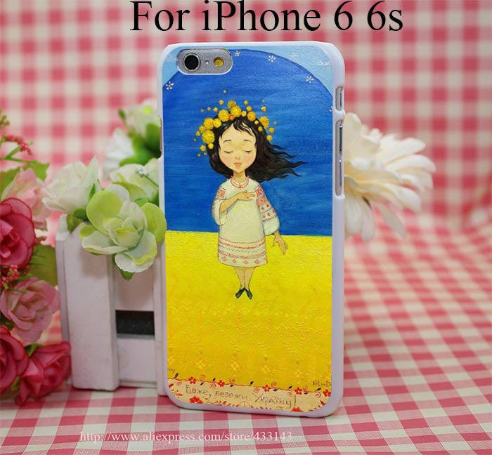 Ukrainian Girl Flag Phone Case - iPhone