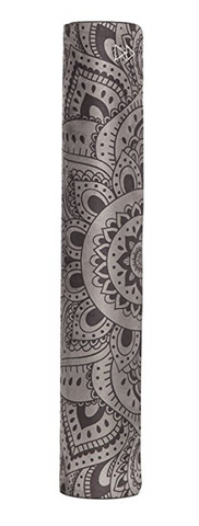"THE ""Mandala Black"" COMBO MAT: 70 in. x 24 in. x 3.55 mm Yoga Mat. Yoga Health Store's Luxury Studio YOGA MAT - A Mat that Grips the More You Sweat 