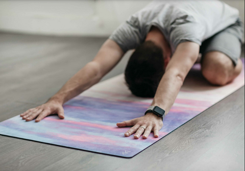 "THE ""BREATHE"" COMBO MAT: 70 in. x 24 in. x 3.55 mm Yoga Mat. Yoga Health Store's Luxury Studio ""BREATHE"" YOGA MAT - A Mat that Grips the More You Sweat 