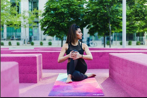 "THE ""GEO"" Studio COMBO MAT: 70 in. x 24 in. x 3.55 mm Yoga Mat. Yoga Health Store's Luxury Studio ""GEO"" YOGA MAT - A Mat that Grips the More You Sweat 