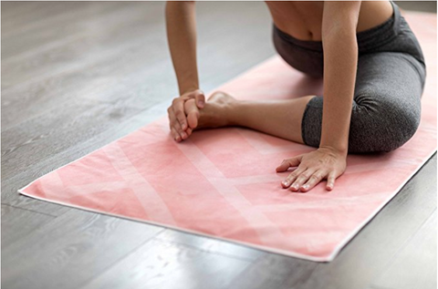 THE ULTIMATE HOT YOGA TOWEL -Color: Labyrinth-by YOGA DESIGN LAB | Luxury Non Slip Quick Dry Eco Printed Towel | Designed in Bali | Ideal for Hot Yoga, Bikram, Exercise, Sports, or Travel | Mat Sized - Yoga Health Store