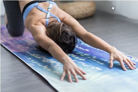 THE ULTIMATE HOT YOGA TOWEL -Color: Serenity-by YOGA DESIGN LAB | Luxury Non Slip Quick Dry Eco Printed Towel | Designed in Bali | Ideal for Hot Yoga, Bikram, Exercise, Sports, or Travel | Mat Sized - Yoga Health Store