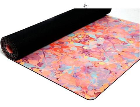 "The ""Kaleidoscope"" Studio COMBO MAT: 70 in. x 24 in. x 3.55 mm Yoga Mat. Yoga Health Store's Luxury Studio ""Kaleidoscope"" YOGA MAT - A Mat that Grips the More You Sweat 
