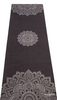 "Image of THE ""Mandala Black"" COMBO MAT: 70 in. x 24 in. x 3.55 mm Yoga Mat. Yoga Health Store's Luxury Studio YOGA MAT - A Mat that Grips the More You Sweat 