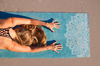 "Image of THE ""Mandala Turquoise"" Studio COMBO MAT: 70 in. x 24 in. x 3.55 mm Yoga Mat. Yoga Health Store's Luxury Studio YOGA MAT - A Mat that Grips the More You Sweat 