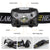 EEEKit Headlamp Flashlight, USB Rechargeable LED Head Torch, IPX4 Waterproof Multiple Modes Headlight with Adjustable Headband & Angle for Outdoors Camping Hiking Fishing Cycling Running Emergency