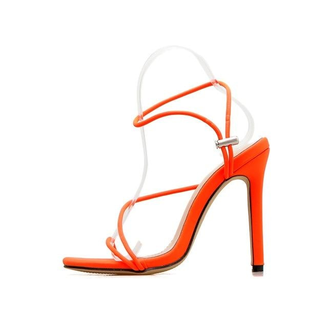 BUY ME A DRINK SANDALS - ORANGE