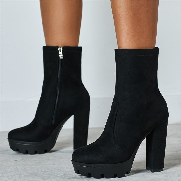 CATCH ME IN THE MORNING BOOTS - BLACK