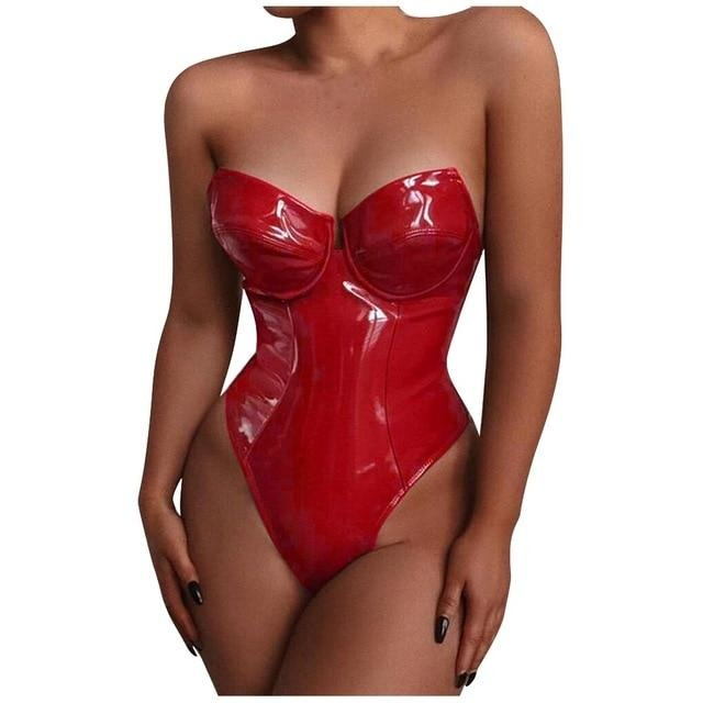 COME AND GET IT BODYSUIT - RED