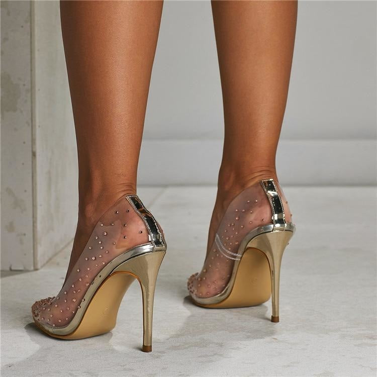 DIAMONDS ARE A GIRLS BEST FRIEND PUMPS