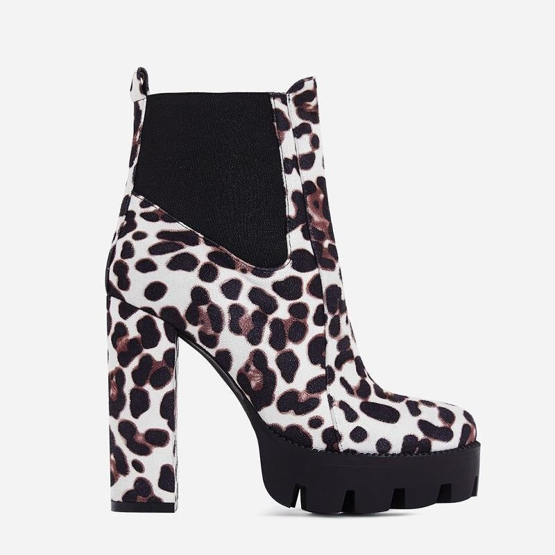 I CANT STOP THIS FEELING BOOTS - BROWN LEOPARD