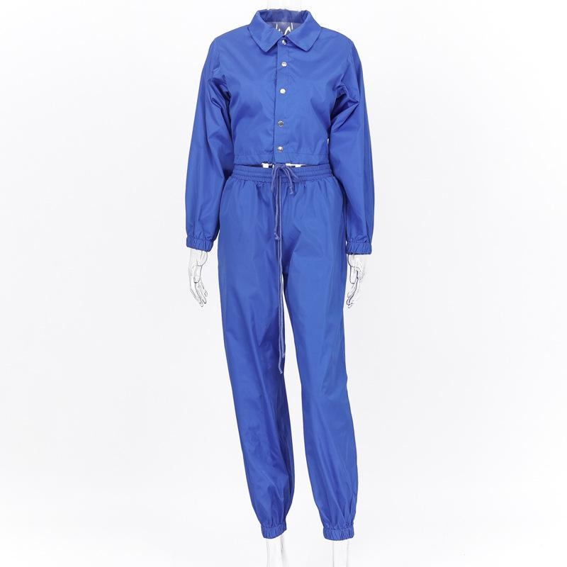 I KNOW YOU WANT TO SEE ME 3 PIECE TRACKSUIT SET -BLUE