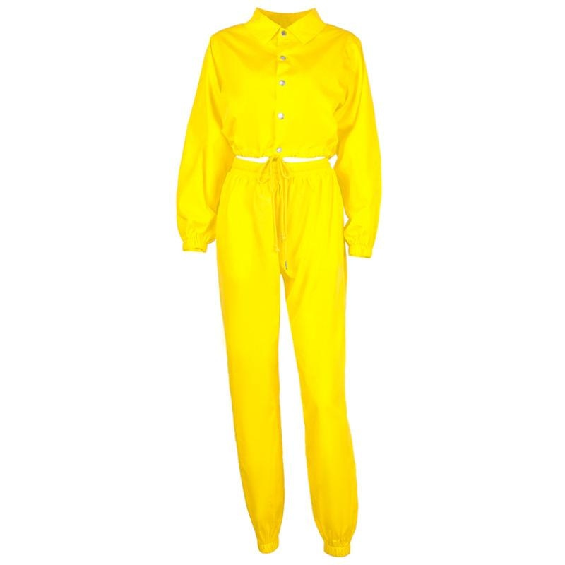 I KNOW YOU WANT TO SEE ME 3 PIECE TRACKSUIT SET - YELLOW