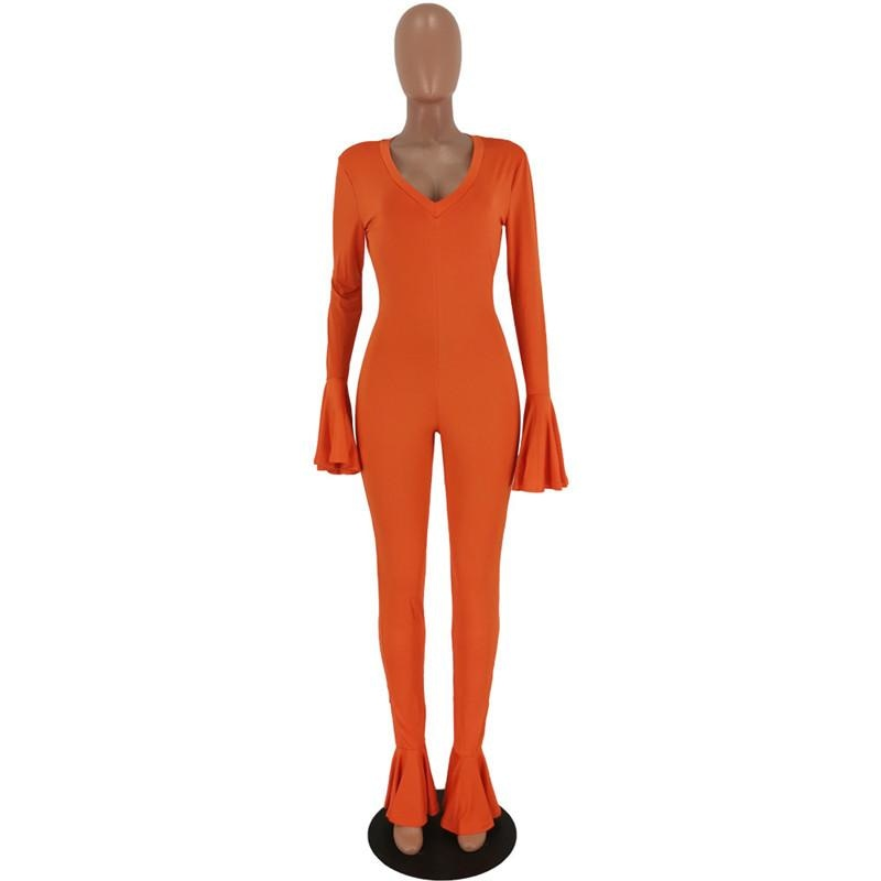 I KNOW YOU WANT TO SEE ME JUMPSUIT - ORANGE