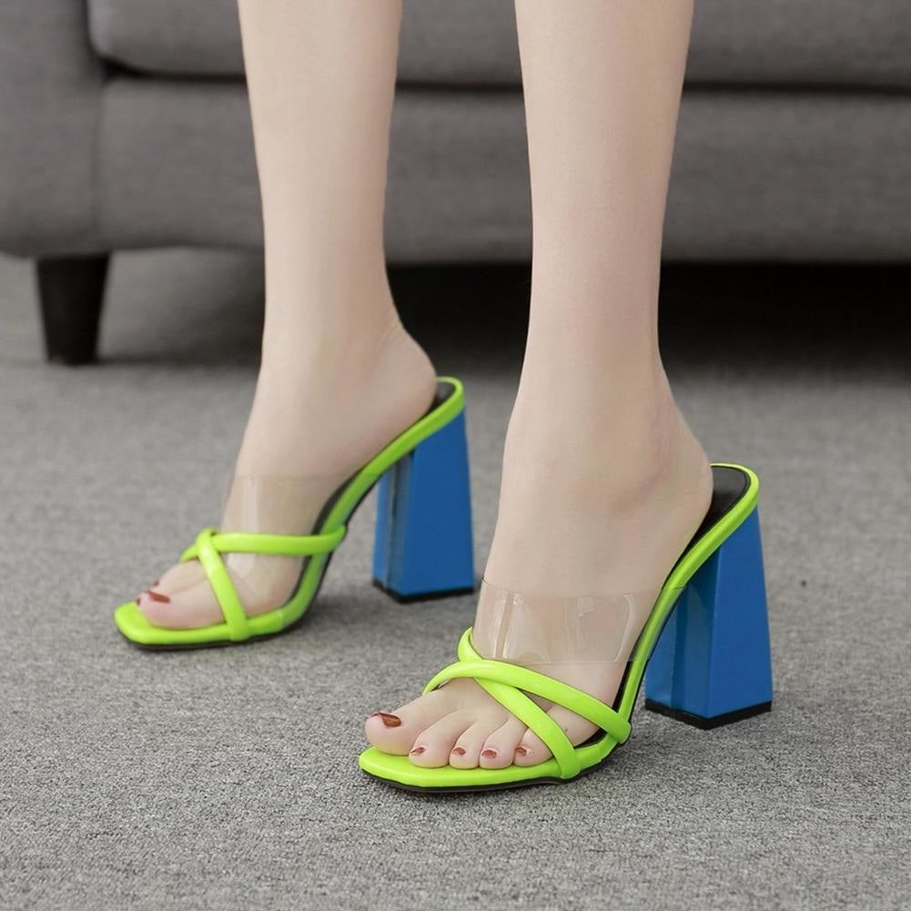 I'M A TOM BOY OPEN TOE SANDALS - BLUE