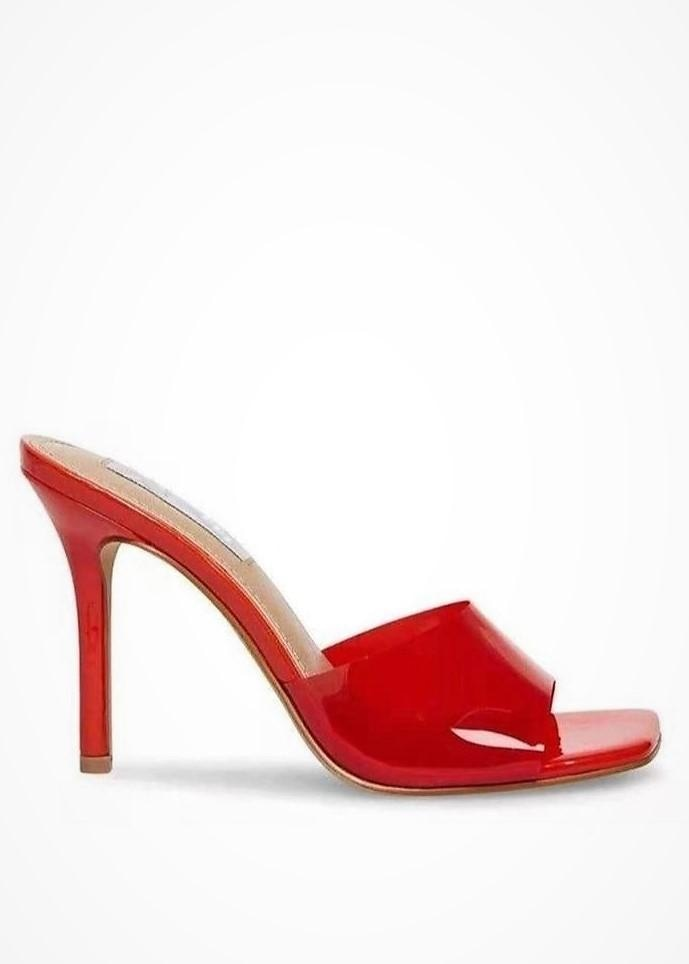 I'M FEELIN GOOD HEELED SANDALS - RED