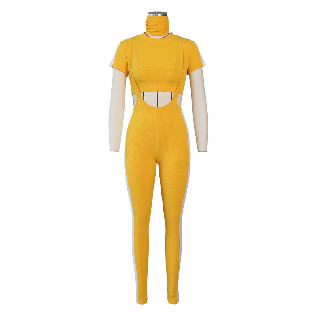 I'M IN LOVE WITH YOU OVERALL JOGGER PANTS SET * with mask