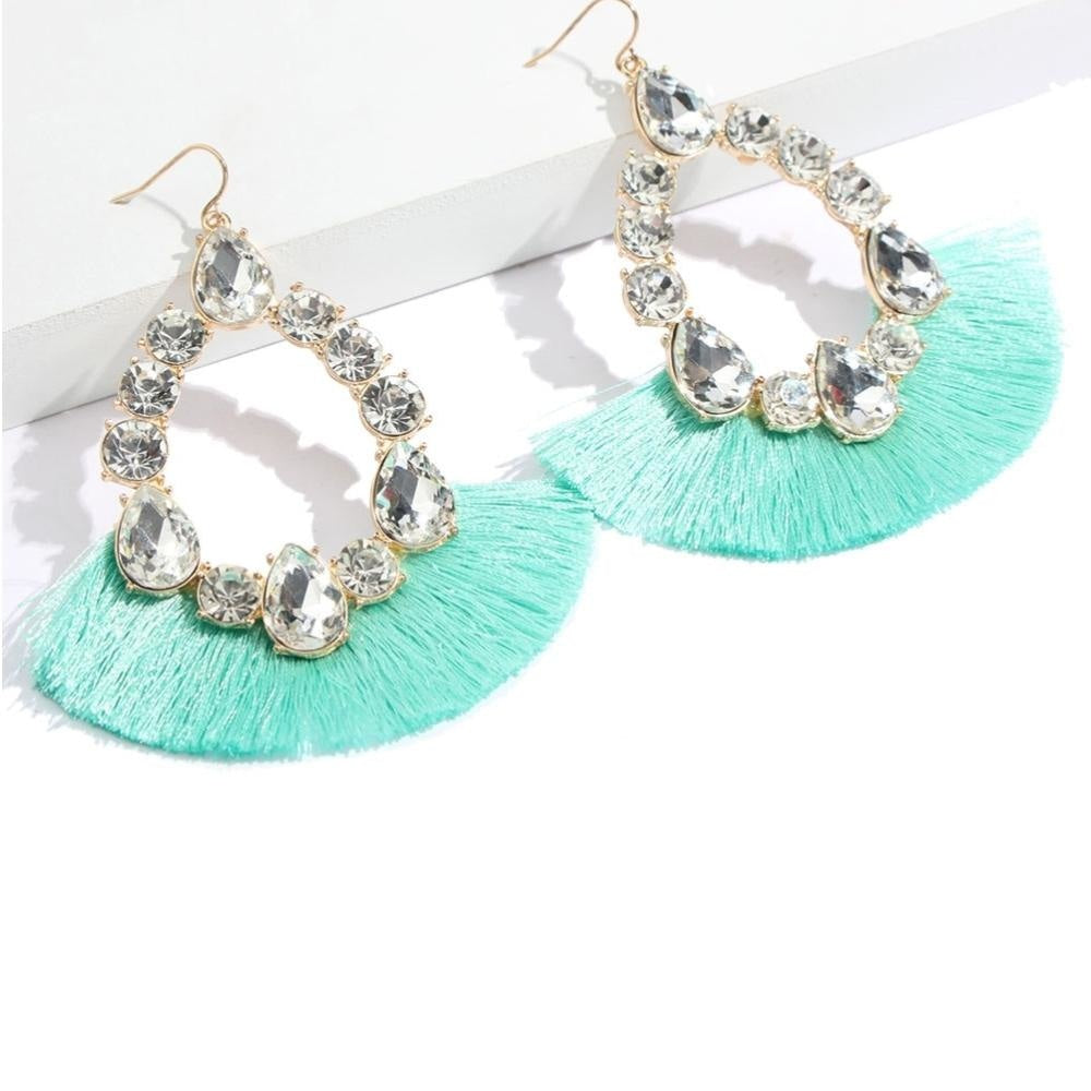IM ON VACATION TASSEL DROP EARRINGS