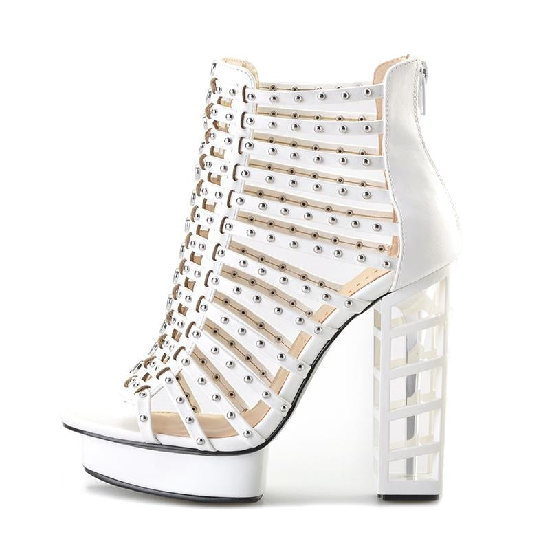 LET ME LIVE MY LIFE ANKLE BOOTS - WHITE
