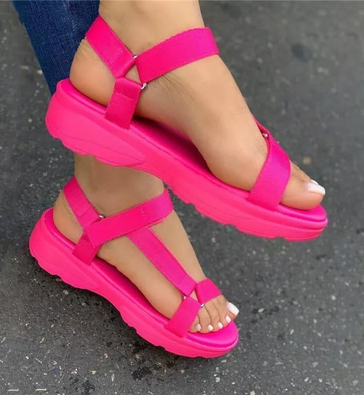 LET'S HAVE SOME FUN FLAT SANDALS