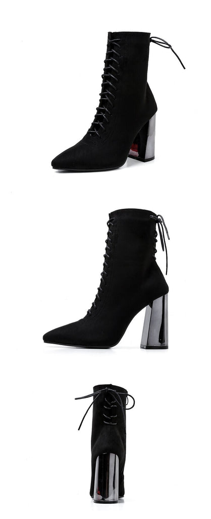 LOVE DONT COME EASY ANKLE BOOTS - BLACK