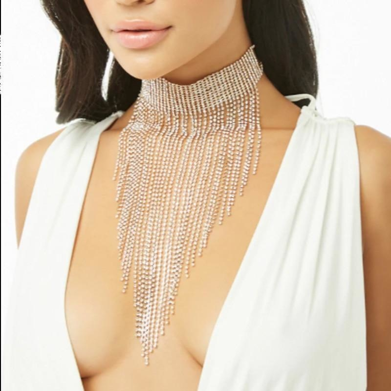 MULTILAYER RHINESTONE CHOKER