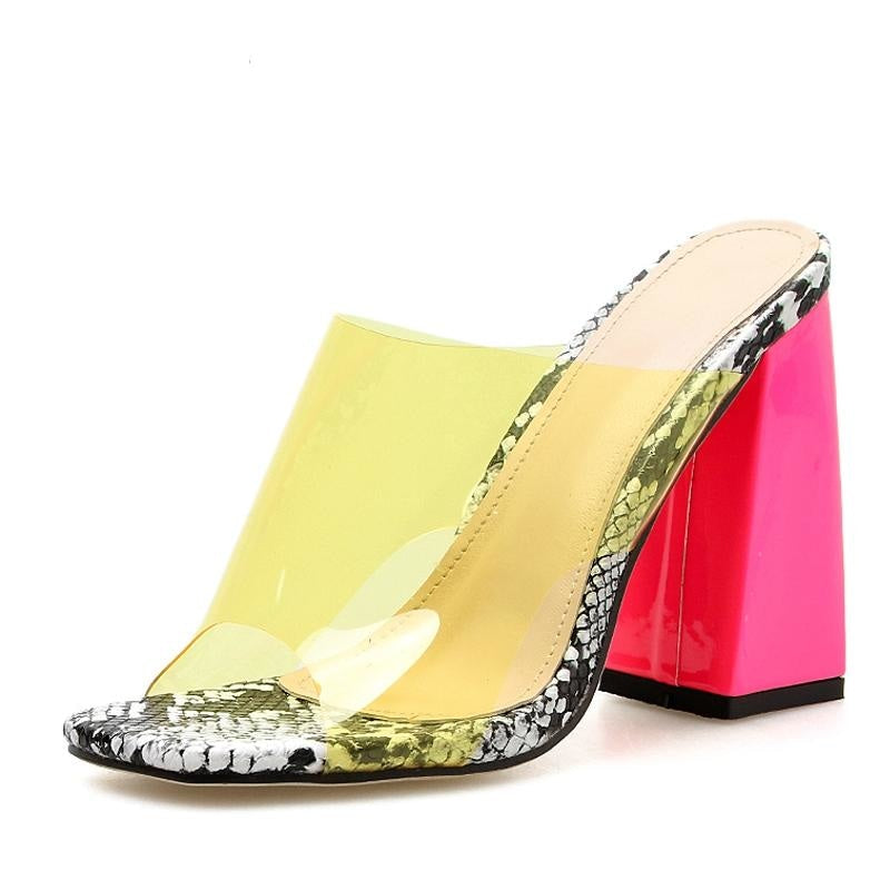 SHAKE IT UP SANDALS - YELLOW