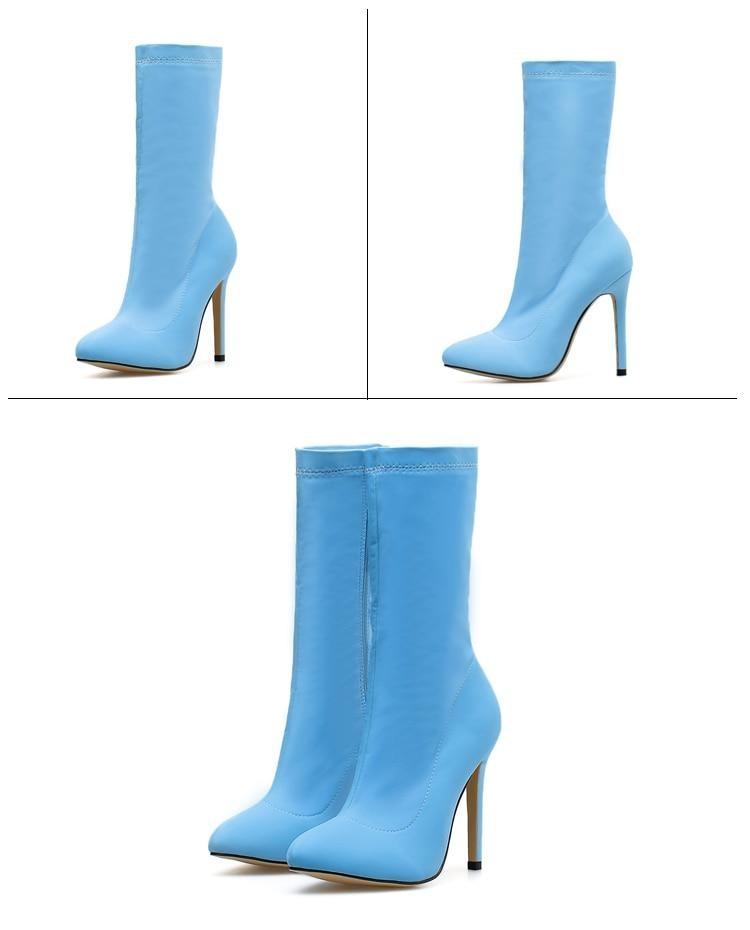 SHE DANGEROUS ANKLE BOOTS - BLUE