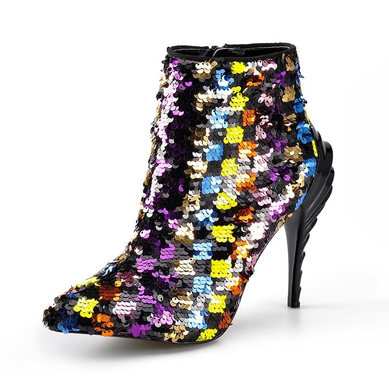 SHOOT FOR THE STARS ANKLE BOOTS