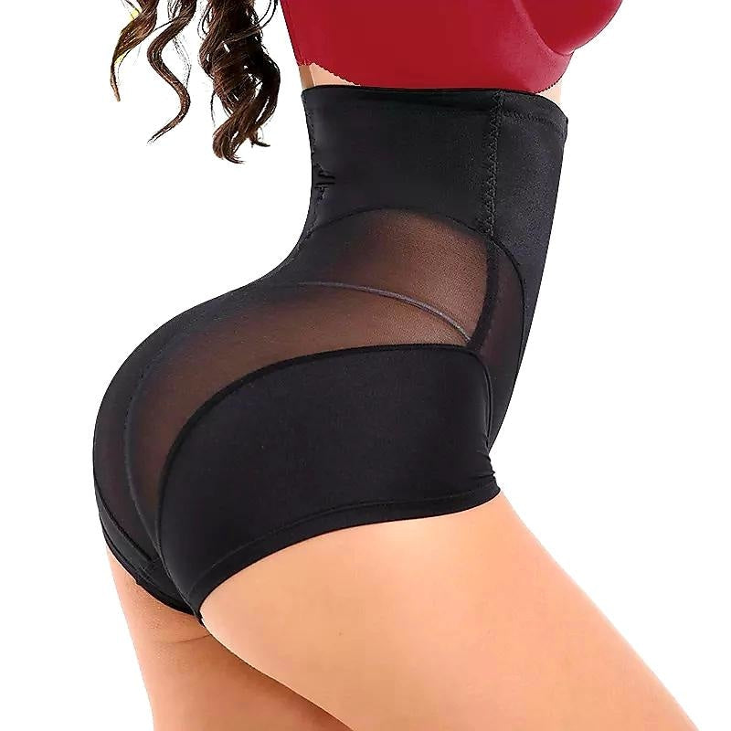 SNATCH ME IF YOU CAN HIGH WAIST SHAPING BRIEF - BLACK